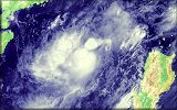 Click here to zoom Florita's full MTSAT-2 Satellite enhanced image!